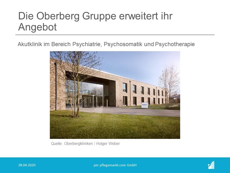 Die Oberberg Gruppe erweitert ihr Angebot