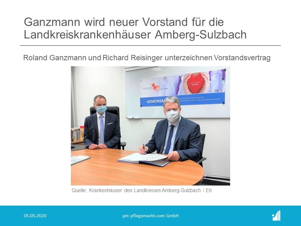 Ganzmann wird neuer Vorstand für die Landkreiskrankenhäuser Amberg-Sulzbach