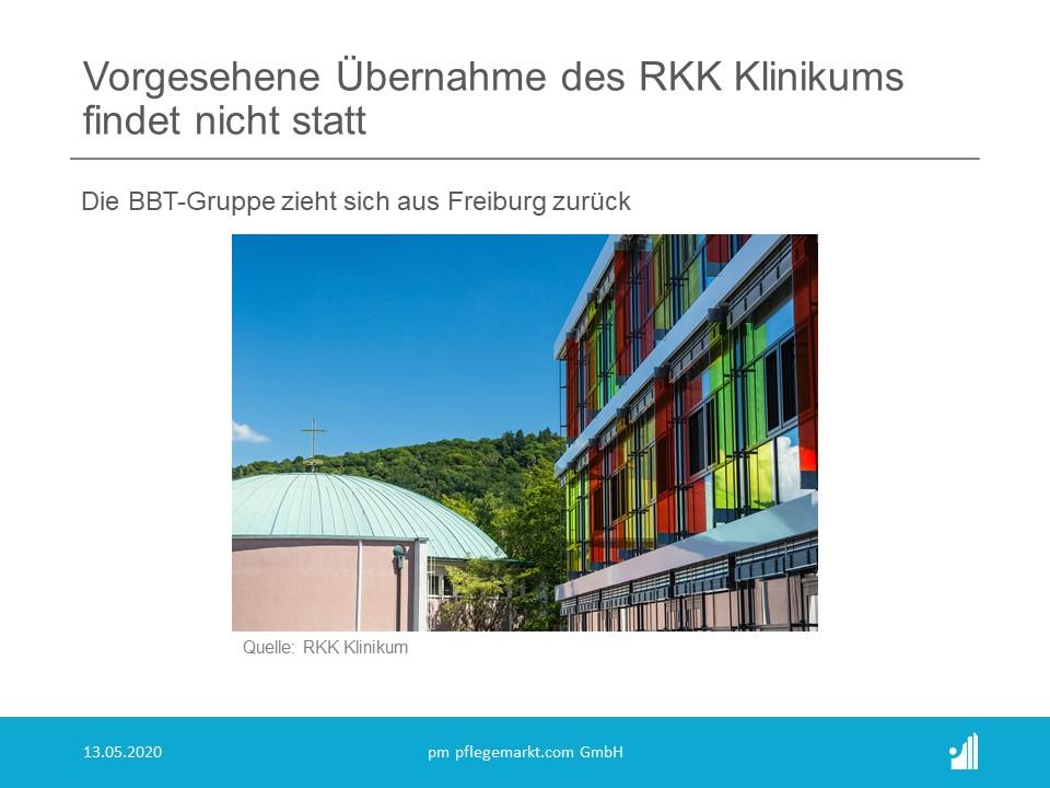 Vorgesehene Übernahme des RKK Klinikums findet nicht statt
