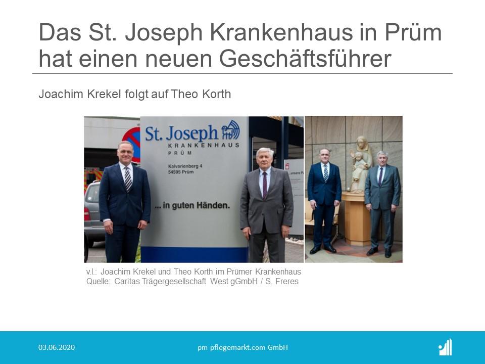 Das St. Joseph Krankenhaus in Prüm hat einen neuen Geschäftsführer